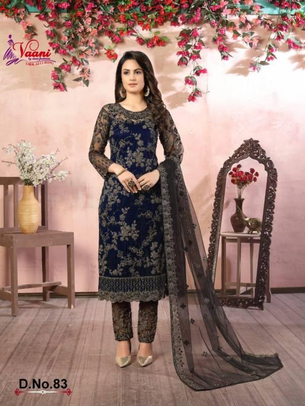 Dani Fashion Vaani Vol 8 Net Eid Special  Churidar Suits Collection