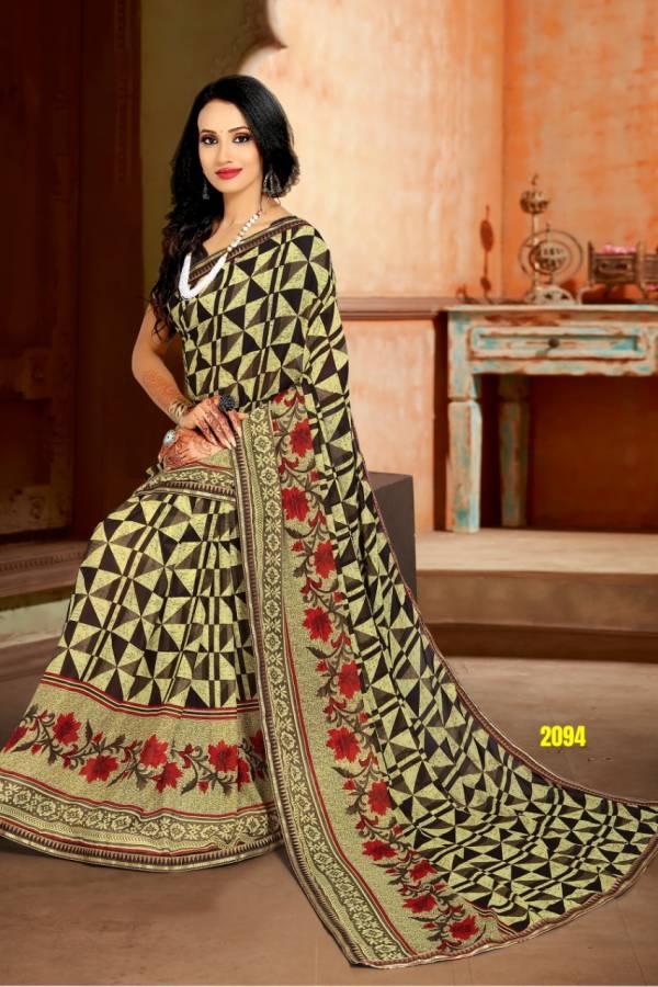 Kodas Muskan Series 2091-2102 Rennial Fancy Printed Casual Wear Sarees Collection