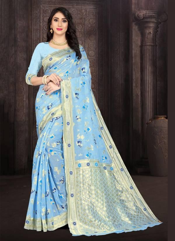 Kodas Armani Serise 8149A-8149D Handloom Silk Designer Traditional Wear Look Sarees Collection