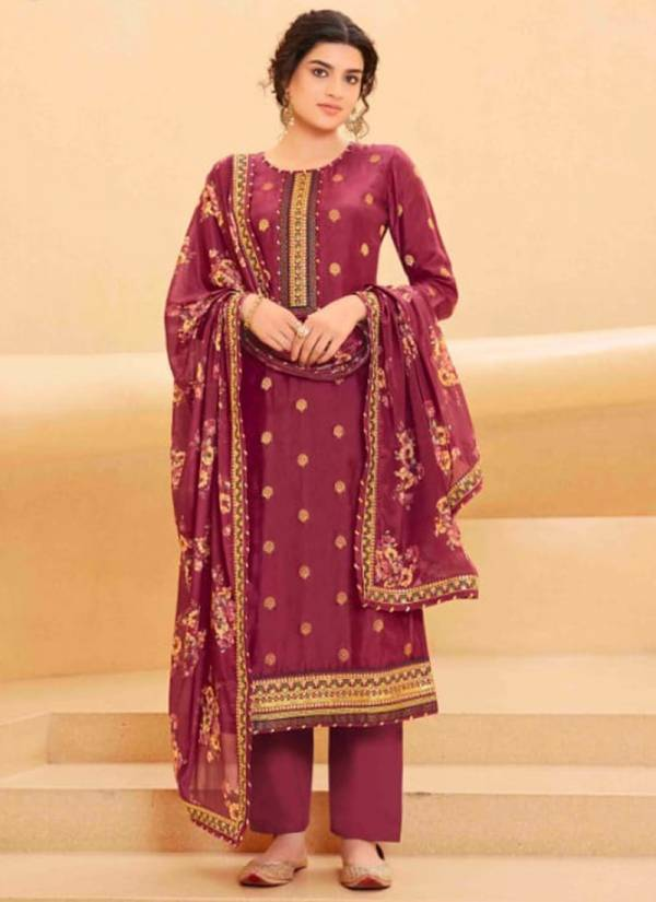 Four Dots Sakshi Series 031-034 Pure Upada Silk With Sequins Work Latest Designer Festival Wear Palazzo Suits Collection