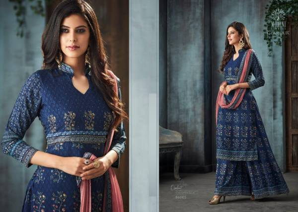 Mohini Fashion Glamour Vol 86 Series 86001-86005 Pure Muslin With Swarovski Work Casual Wear Salwar Suits Collection
