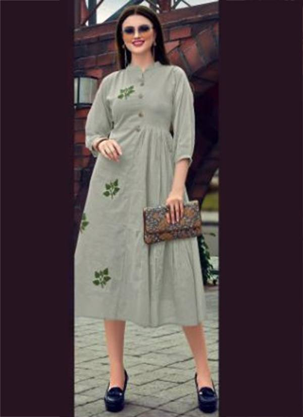 Seven Threads Summer Swing Mal Cotton With Hand Embroidery Work Kurtis Collection