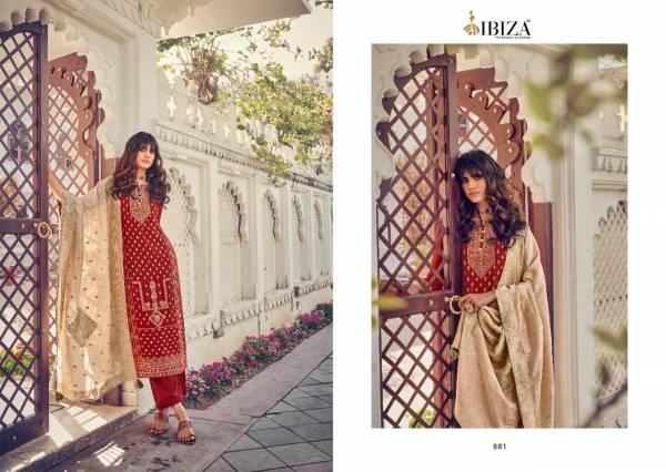 Ibiza Silky Pure Woven Russian Jacquard Silk Festival Wear Salwar Suits Collection