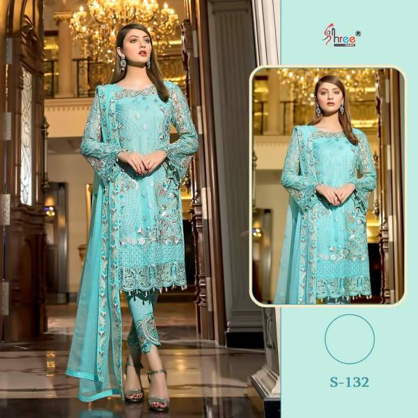 Shree fab Series 132-140 Heavy Net And Faux Georgette Party Wear Eid Special Pakistani Suits Collection