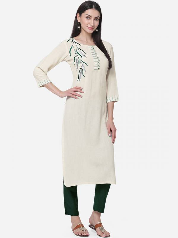 KVS Fendi Series KVSKS745KSL-KVSKS748KSLL Cotton With Embroidery Work Latest Designer Kurtis With Pants Collection