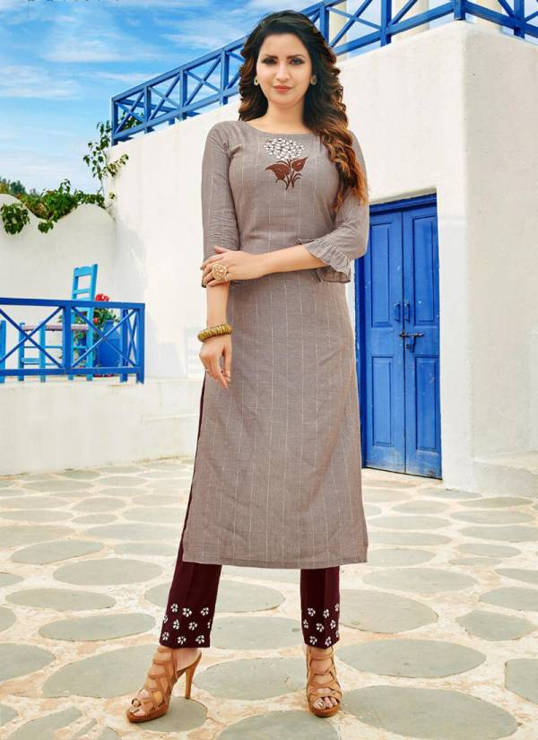 Manas Fab Beele Series MB4001-MB4008 Rayon With Stylish Embroidery Work New Designer Long Kurtis With Palazzo Collection