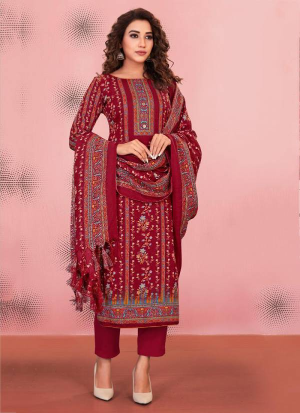 Bipson Preeto Series 1194A-1194D Winter Season Latest New Pure Pashmina Print Casual Wear Suits Collection
