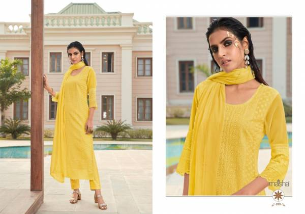 Maisha Maskeen Ji maira Series 9101-9104 Heavy Georgette With Lucknowi Work Readymade Salwar Suits Collection