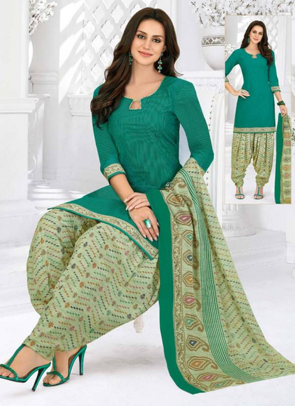 Pranjul Priyanka Vol 7 Series 728-746 Cotton Printed Regular Wear Readymade Patiyala Suits Collection 1