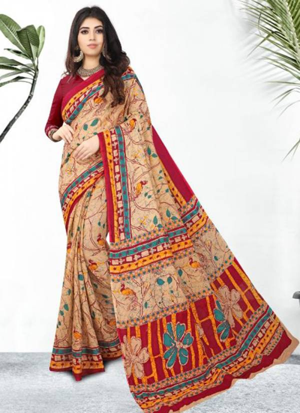 Ganesha Rashami Series 1008-1027 Cotton Fancy printed Casual Wear Sarees Collection