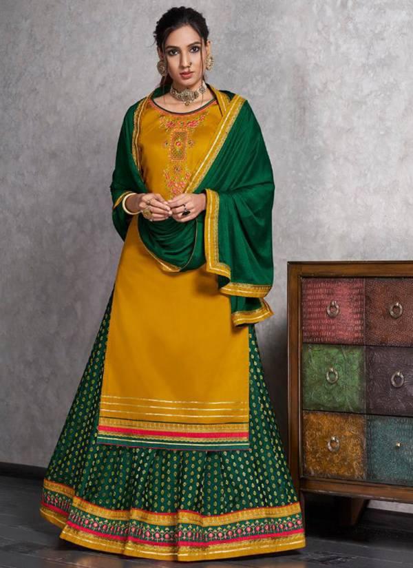Rangoon Apsara Series 2641-2646 Jam Silk With Stylish Embroidery Work Readymade New Designer Festival Wear Lehenga Suits Collection