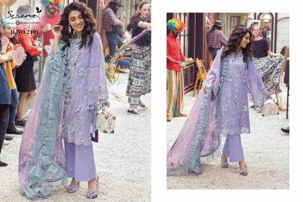 Serene Mushq Heavy Cambric Fancy Embroidered Work Designer Pakistani Suit collection