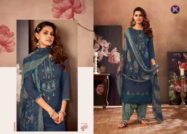 Kala Fashion Kala Patiyala Cotton Print with Self Embroidery Work Festival Wear Designer Suit Collection