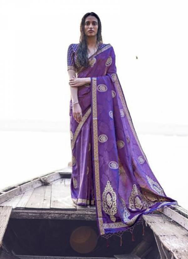 Rajtex Kashti Silk Series 153001-153006 Pure Satin Weaving Silk Designer Party Wear Saree Collection