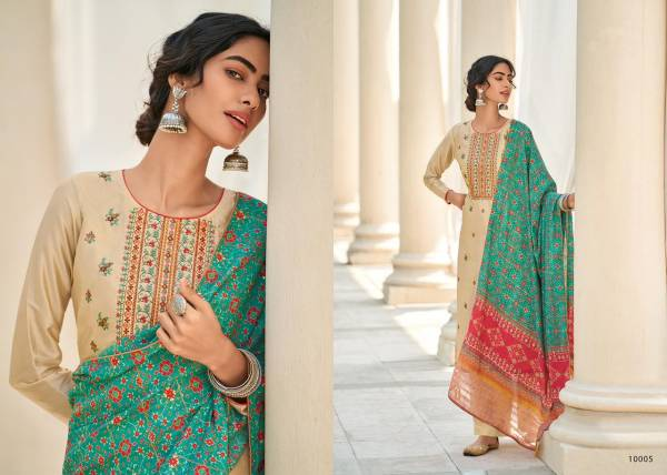 Deepsy Alankrita Mahya Silk With Self Embroidery Work Palazzo Suits Collection