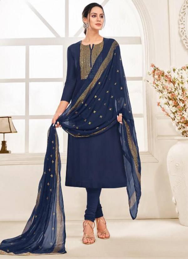 Angroop Plus Dairy Milk Vol 32 Series 8001DM-8016DM Chanderi Cotton With Embroidery Work Designer Churidar Salwar Suits Collection