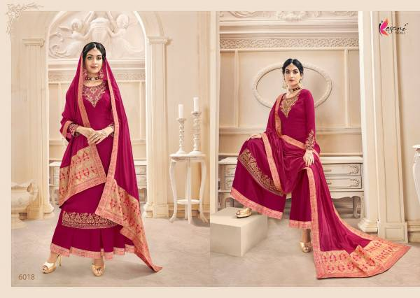 Kesari Trendz Naaz Vol 3 Series 6015-6020 Heavy Faux Georgette With Heavy Self Embroidery Work New Designer Palazzo Suits Collection