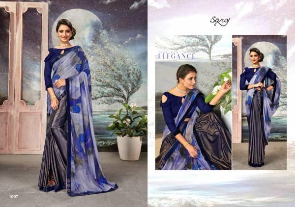 Saroj Moon Light Lycra and Pallu Soft Satin with Digital Print Designer Sarees Collection