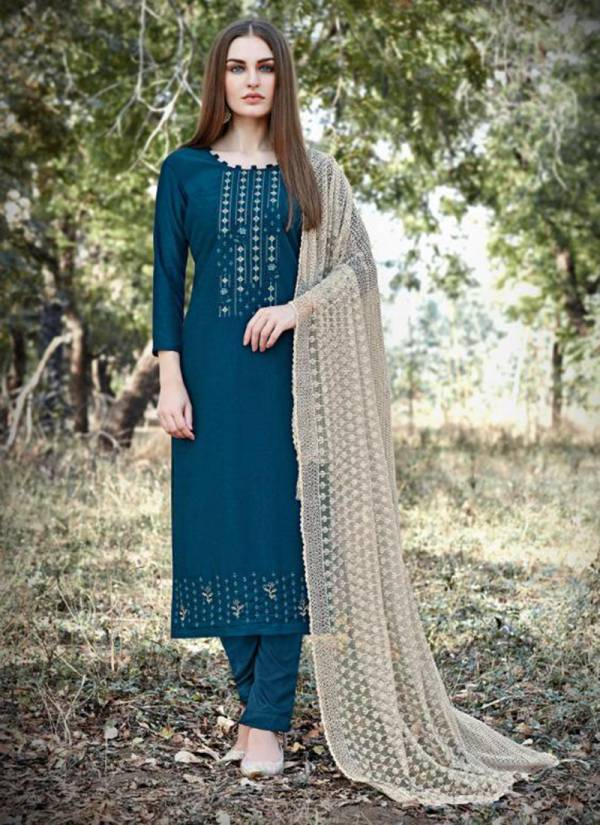Vishnu Impex Ayssa Series 8001-8008 Pandora Lining With Fancy Embroidery Work New Designer Straight Suits Collection