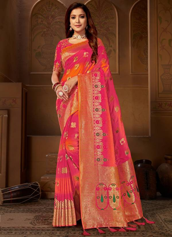 Glam Elegance Roohi Vol 10 Series 868-872 Latest Heavy Weaving Jacquard Fancy Festival wear Sarees Collection