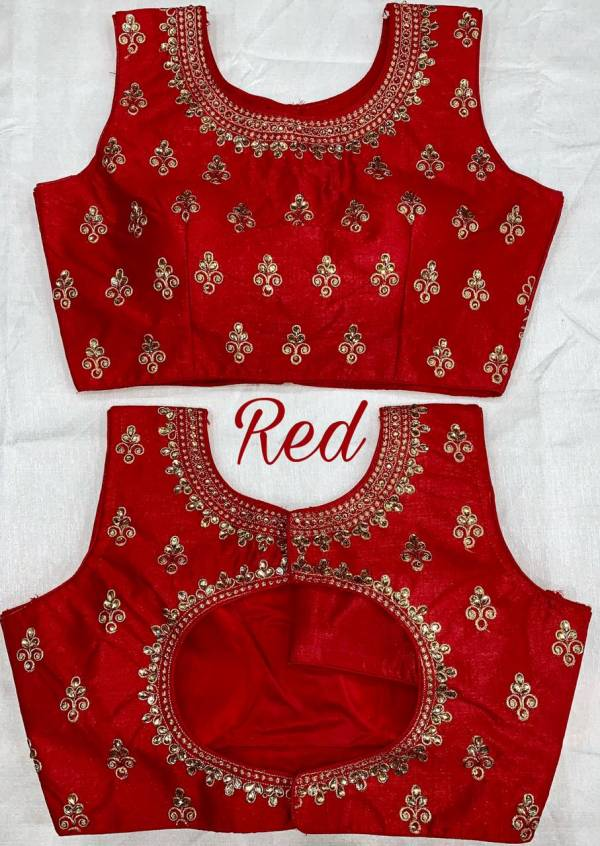 Ruhi Fashion Series 1-7 Phantom Silk With zari Embroidery Work Party wear Blouse Collection