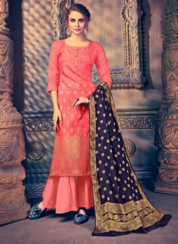 Aanzara Aliyanaa Series ALIYANAA1-ALIYANAA8 Pur Russian Banarasi Silk With Weaving Work Party Wear Suits Collection