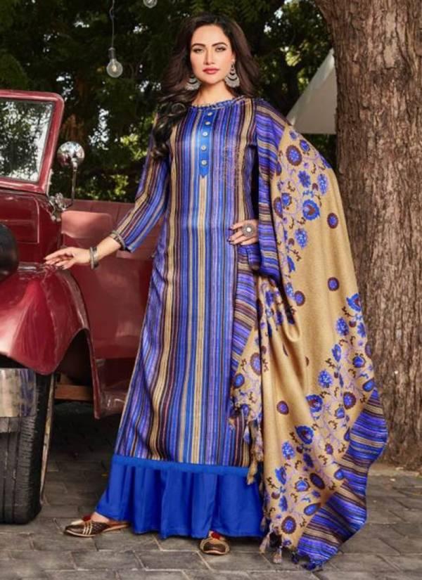 Rolimoli Creation Minar Series 5001-5008 Pure Pashmina Jacquard Print With Swarovski Work Latest Designer Palazzo Suits Winter Collection