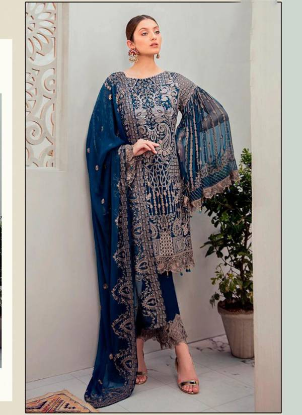 Charizma Colours Series 90006A-90006D Faux Georgette With Heavy Beautiful Embroidery Work Party Wear Pakistani Suits Collection