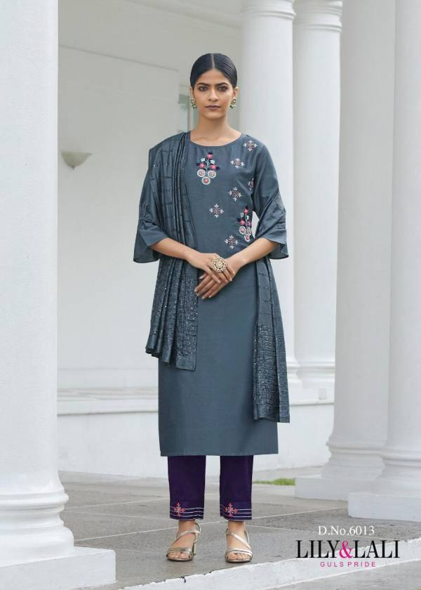 Lily & Lali Malaika Series 6011-6018 Bemberg Silk With Heavy Exclusive hand Work Readymade Party Wear Salwar Suits Collection