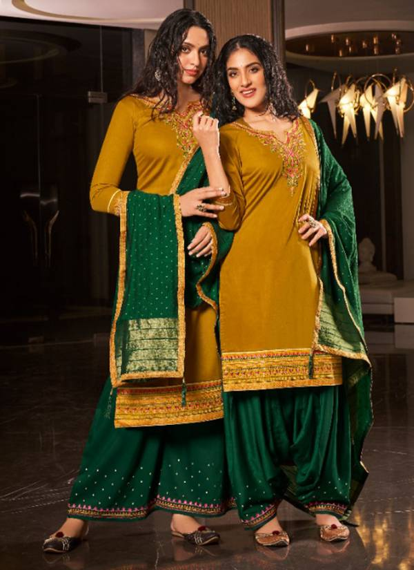 KVS Lashkara Series 5601-5608 Pure Jam Silk With Embroidery Work StyliSh Look Suits Collection