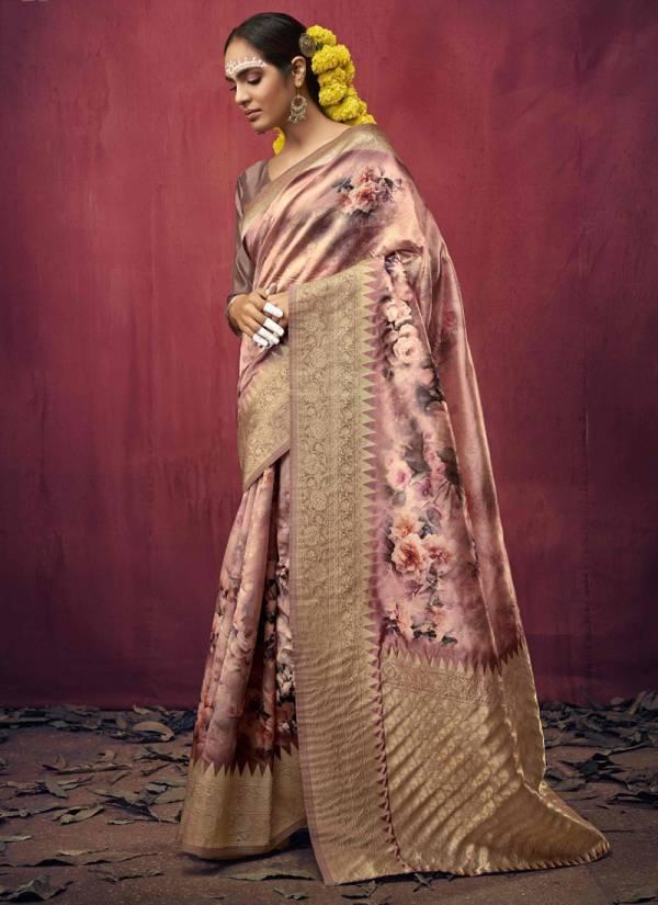 Shakunt Poshaak  Silk Weaving Fancy Digital Printed Work Traditional Wear Designer Sarees Collection