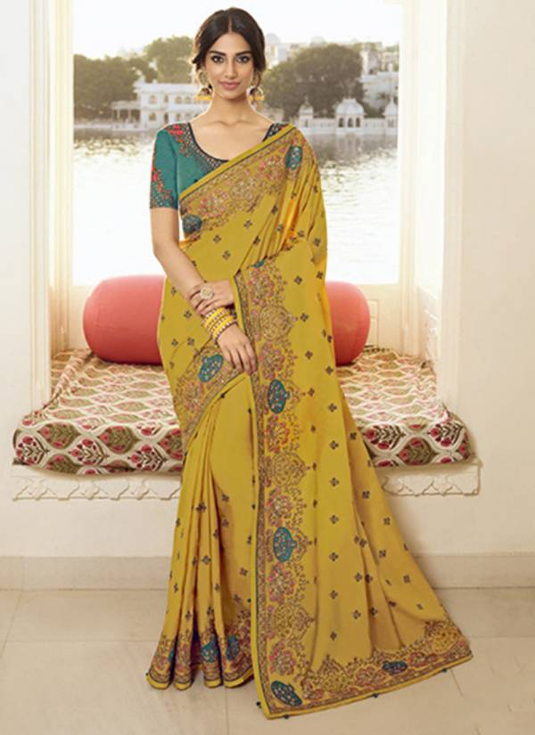 Kekee Impex Swara Vol 5 Series 4411-4416 Heavy Silk And Heavy Embroidery Work Party & Wedding Wear Sarees Collection