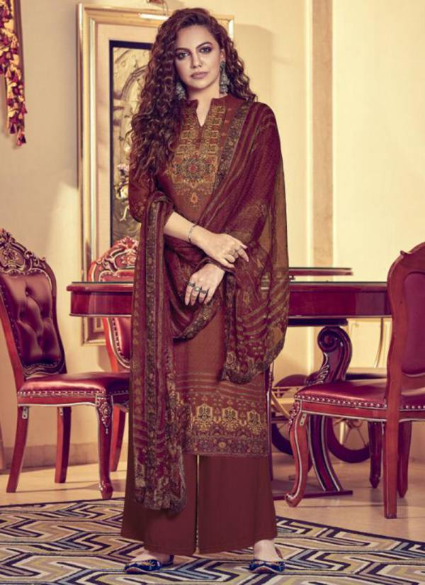 Aanzara Aayat Series AAYAT01-AAYAT07 Exclusive Pure Pashmina Twill Wool With Embroidery Work & Digital Print Winter Suits Collection