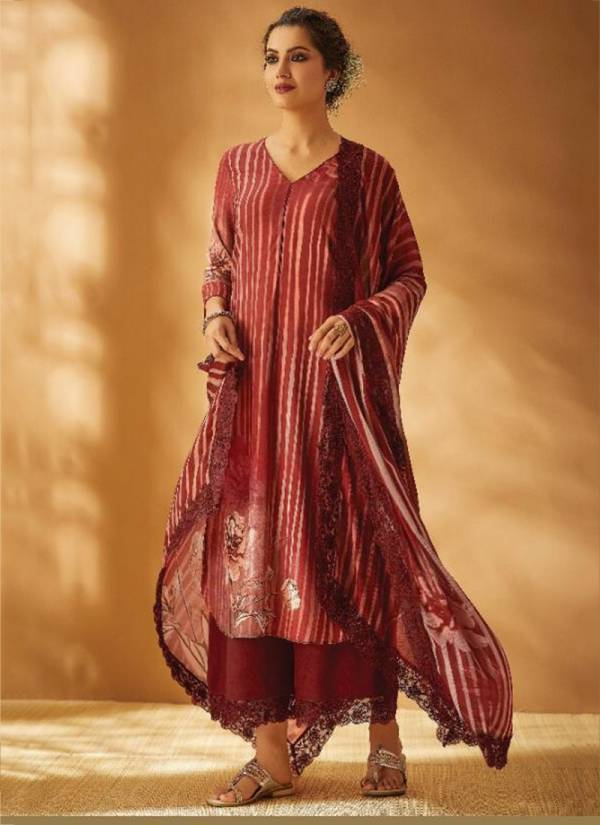 Kimora Surma Series 7901-7908 Pure Pashmina Twill With Embroidery Work Winter Special Palazzo Suits Collection