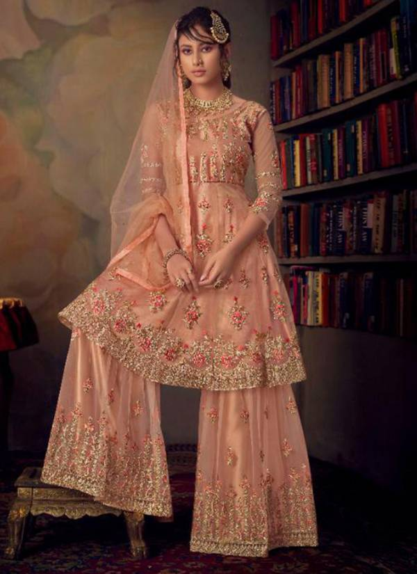Karma Series 846-852 Buy Now Net Embroidery Work Festival Wear Suits Collection
