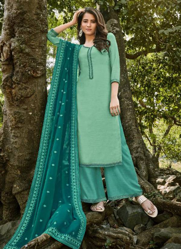 Bela Fashion Mukhar Series 1215-1221 Cotton Silk With Stylish Embroidery Work Designer Fancy Palazzo Suits Collection