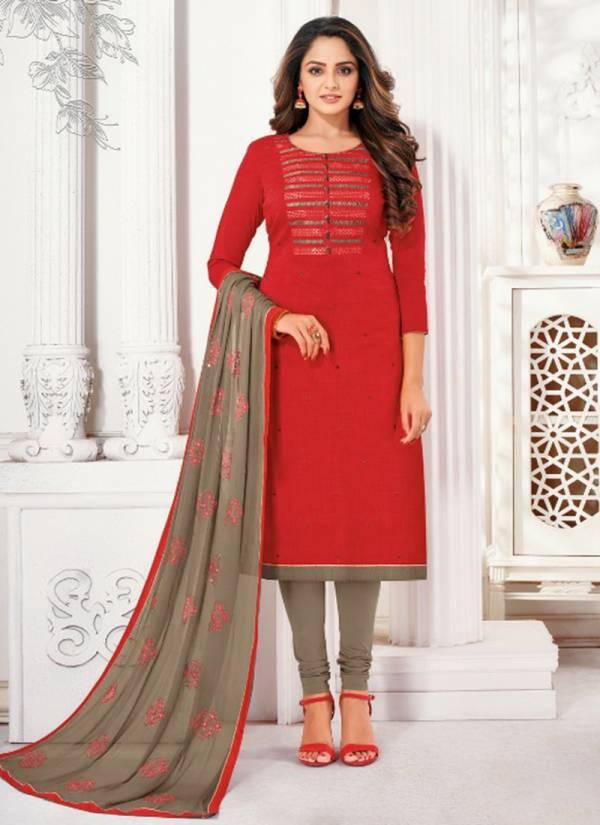 Kapil Tex Lipstick Jharna Silk With Fancy Work Designer Festival Wear Salwar Suits Collection
