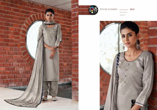 Four Dots Shubharambh Vol 4 Modal Satin With Sequence Work Latest Salwar Suits Collection