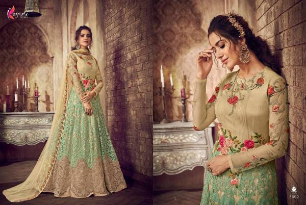 Kesari Trendz Rutbaa Net  Heavy Butterfly and Heavy Embroidery Worked Designer Anarkali Suits Collection