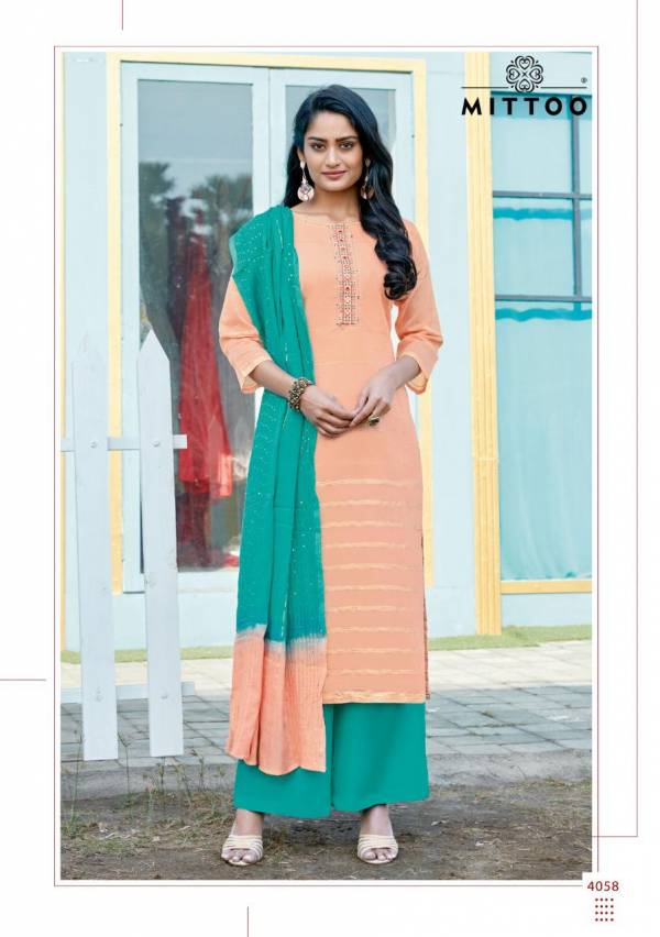Mittoo Manohari Vol 3 Chanderi Jacquard Fancy Readymade Salwar Suits Collection