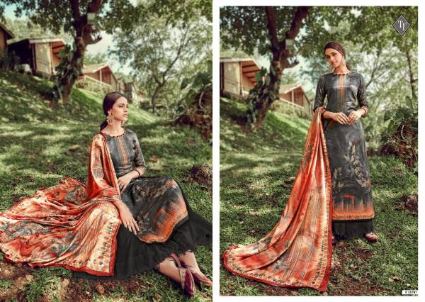 Tanishk Fashion Suven Series 15701-15708 Pure Modal Satin With Digital Printed & Hand Wrok Casual Wear Palazzo Suits Collection