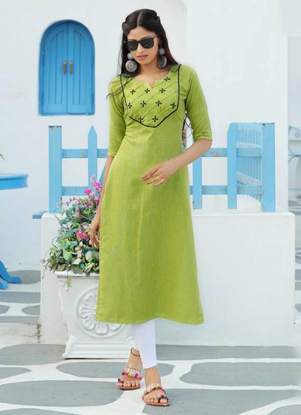 PK Fashion Casuals Vol 2 Series 2001-2006 Rayon Weaved With Manual Work Stylish Look Kurti Collection