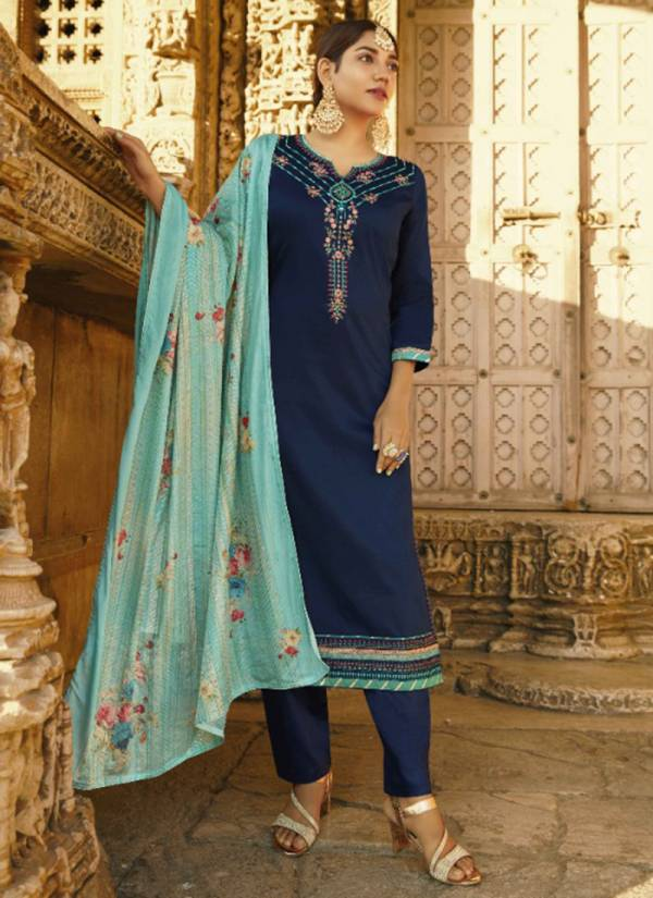Kalarang Kanika Series 1971-1974 Jam Silk Cotton Embroidery Work Straight Festival Eid Special Suits Collection