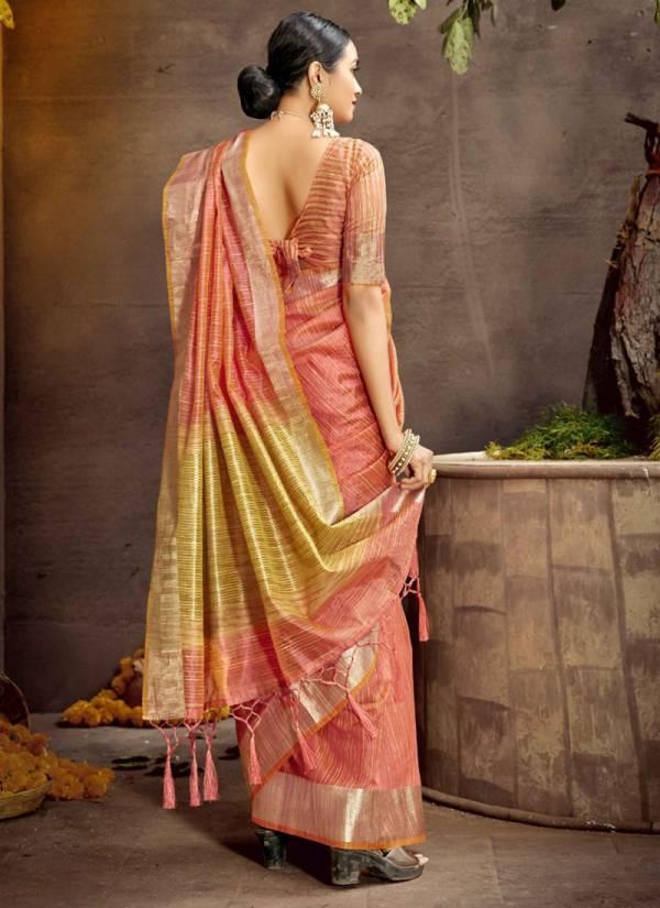 Shakunt Sakhipriya Cotton Weaving Work Wedding Wear Designer Sarees Collection