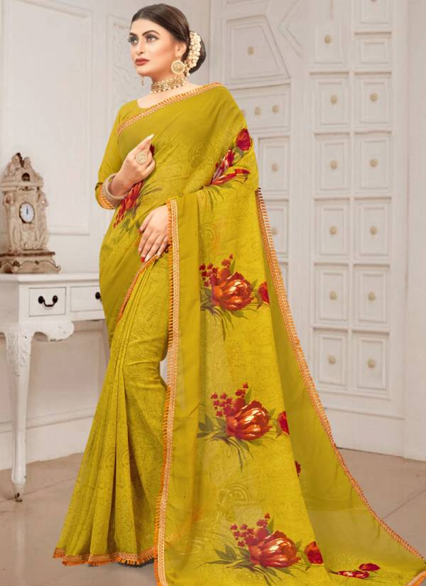 Kodas Gmail-85 Series 1001-1012 Dani Printed With Trendy Look Border Fancy Casual Wear Sarees Collection