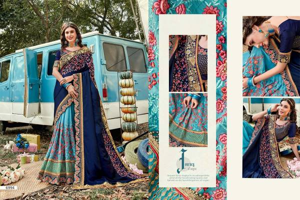 Kekee Impex Khwaab Vol 16 Series 6993-6998 Silk With Designer Embroidery Work Party & Wedding Wear Sarees Collection