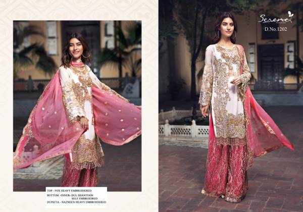 Serene Zebtan Hit Cord Series 1201-1205 Faux Georgette With Heavy Embroidery Work Designer Pakistani Suits Collection