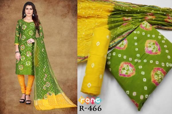 Nakshatra Fashion Studio Rang vol 58 Series R-463 - R-472 Cotton Handicraft Bandhej Dress Material Suit Collection