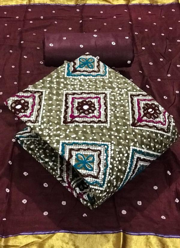 Designer Suit Pure Cotton Batik Print With Embroidery Work Casual Wear Designer Non Catalog salwar Suits Collection