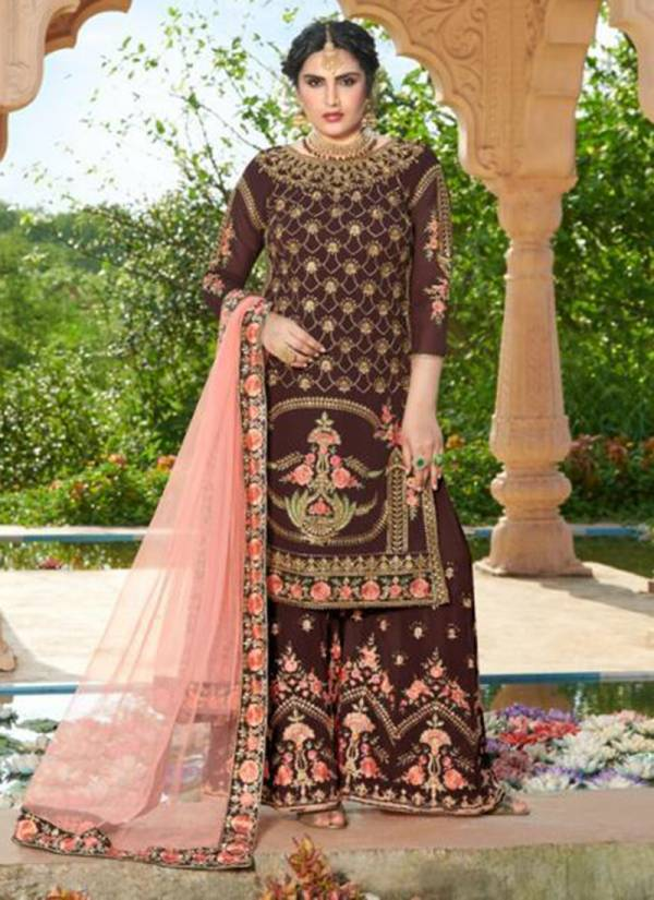 Your Choice Miss World Vol 3 Series 3562-3565 Faux Georgette With Heavy Embroidery Work New Designer Sharara Suits Collection